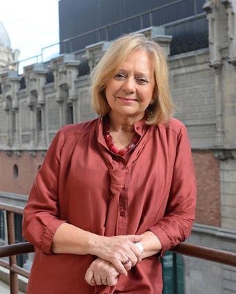 Sol Aguirre, presidenta de la asociación literaria de la Alhóndiga de Bilbao